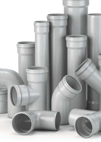 plastic pvc pipes isolated on the white background 2CE6UNJ 1 1